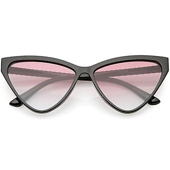 Oversize Vintage Cat Eye Sonnenbrille Farbe getönt Objektiv 59mm