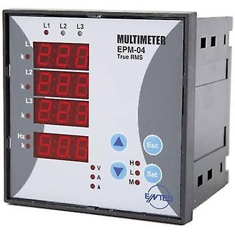 ENTES EPM-04-96 Programmable 3-PHASE BUILD-AC-Multimeter EPM -04-96 Voltage, current, frequency, operating hours, Total Hours
