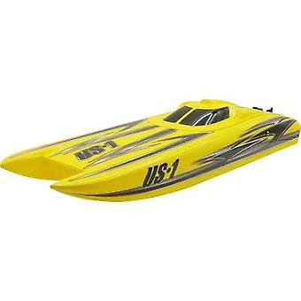 Amewi Alpha Flame Yellow Scheme RC model speedboat RtR 730 mm