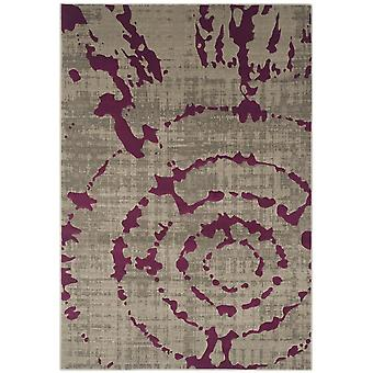 Short-pile woven rug living room indoor carpet grey purple indoor rugs - Pacific abstract grey Purple 70 / 275 cm - rug for the living room inside