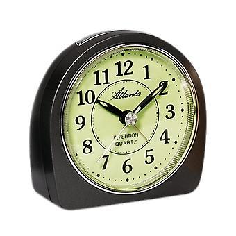 Атланта 1586/4 будильник кварцевые аналоговые антрацит спокойно без тиканье светом Snooze