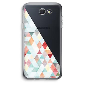 Samsung Galaxy J5 Prime (2017) transparentes Gehäuse (Soft) - farbige Dreiecke Pastell