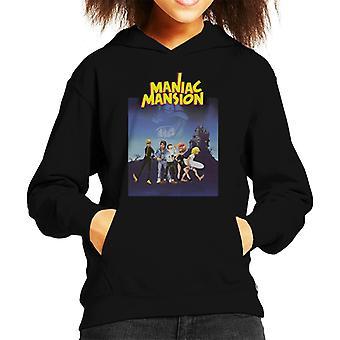 Maniac Mansion Cover Kid's Hooded Sweatshirt