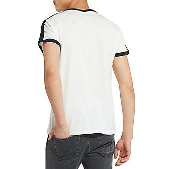 Wrangler Mens Raglan Crew Neck Short Sleeve Cotton Casual T-Shirt Tee Top -Grey