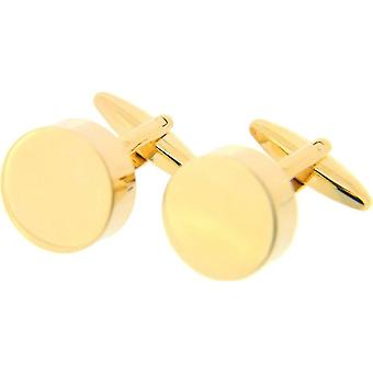 David Van Hagen Round Cufflinks - Gold