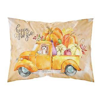Fall Harvest Cavapoo Fabric Standard Pillowcase