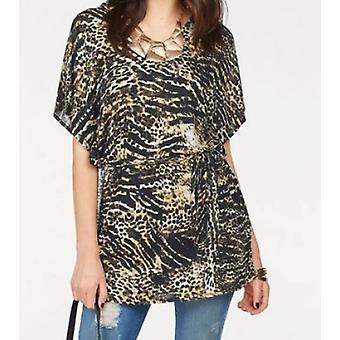 Melrose ladies tunic in the Leopard print plus size