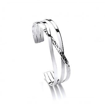Cavendish French Sterling Silver Crossover Bangle