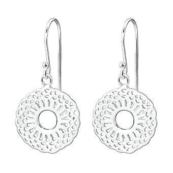 Patterned - 925 Sterling Silver Plain Earrings - W26625x