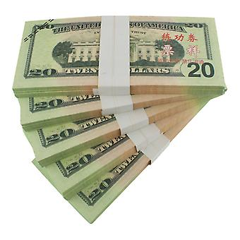 Play money-20 us dollars (100 banknotes)