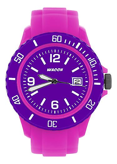 Waooh - Watch Pink Dial & Bezel MONACO38 Color