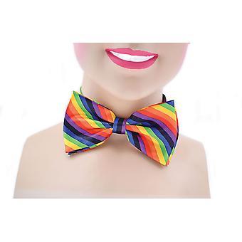 Corbata de lazo. Arco iris color