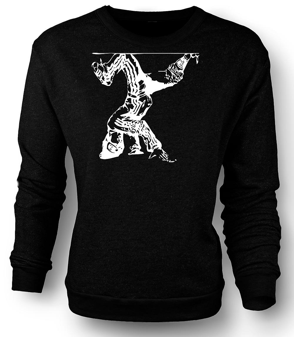 Mens Sweatshirt Breakdancing Hip Hop - BW