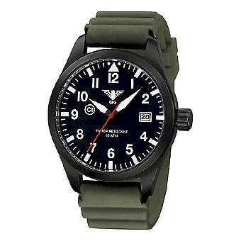 KHS watches mens watch Airleader black steel KHS. AIRBS. DO
