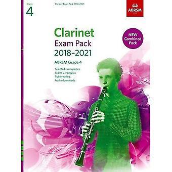 Klarinett-examen Pack 2018-2021, ABRSM grad 4: Utvalda från 2018-2021 kursplanen. Poäng & del, Audio nedladdningar, skalor & Sight-Reading - ABRSM examen bitar (noter)