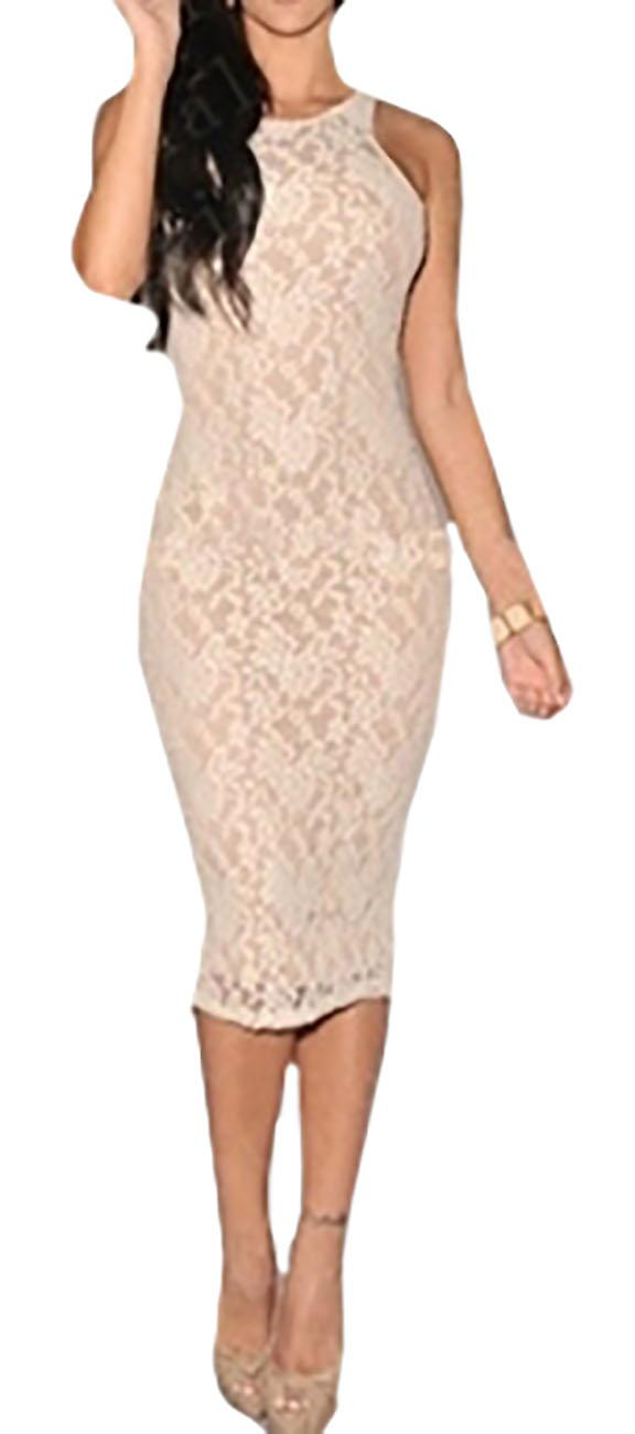 Waooh - Fitted Dress lace lined Tomya