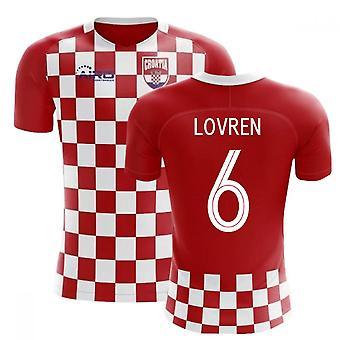 2018-2019 Croacia bandera concepto fútbol camiseta (Lovren 6)