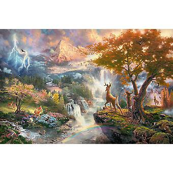 シュミット Kinkade: ディズニー バンビのジグソー パズル (1000 ピース)
