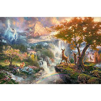 Schmidt Kinkade: Disney Bambi Jigsaw Puzzle (1000 Teile)
