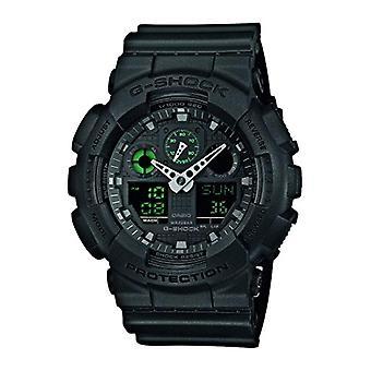 Casio analog-digital Watch quartz men with resin band GA-100 MB-1AER