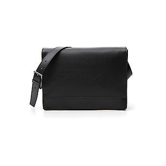 Prada Black Leather Messenger Bag