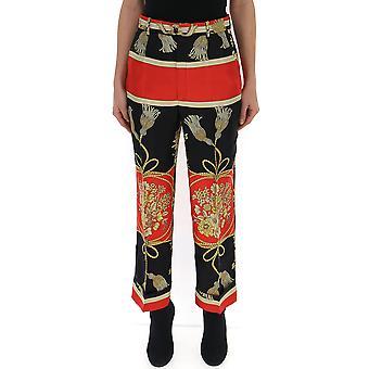 سروال أسود غوتشي الأحمر الحرير