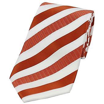 David Van Hagen stripete Polyester uavgjort - oransje/hvit