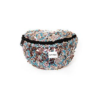 Spiral Infinity Sequins - Black Glamour Bum Bag