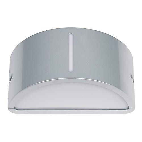 Endon EL-YG-7013 Silver Aluminium Low Energy Wall Washer Light With Acrylic Opal Lens