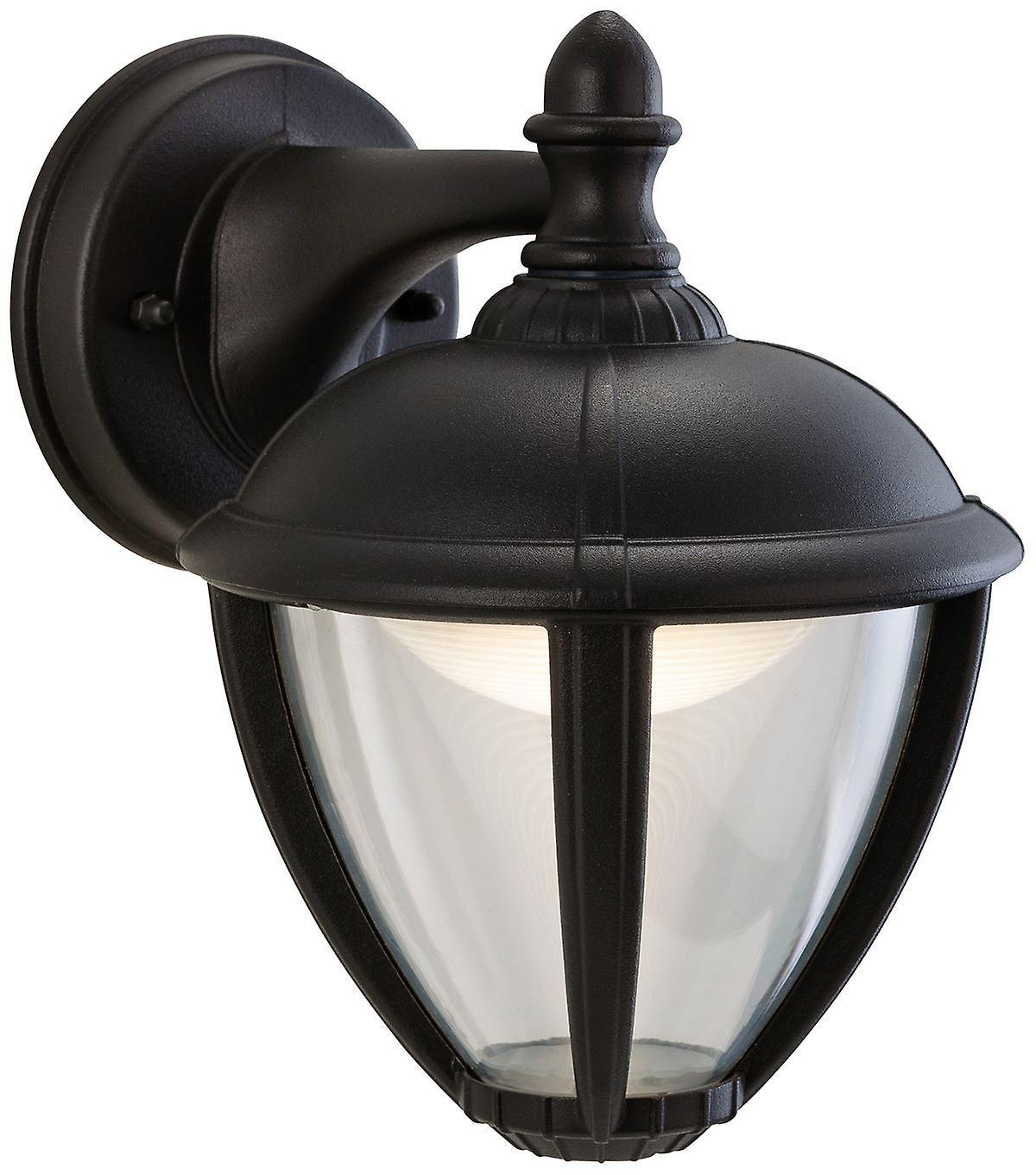 Firstlumière - LED de plein air lanterne murale Downlumière noir IP44 - 3401BK