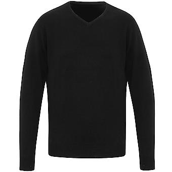 Premier Mens Essential Acrylic V Neck Casual Jumper Sweater