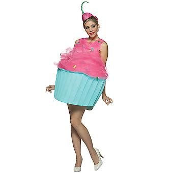 Womens Cupcake Food Novelty Funny Fancy Dress Costume