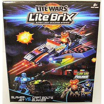 Lite Wars Lite Brix-Slayer jet vs. Captain bolt bunker