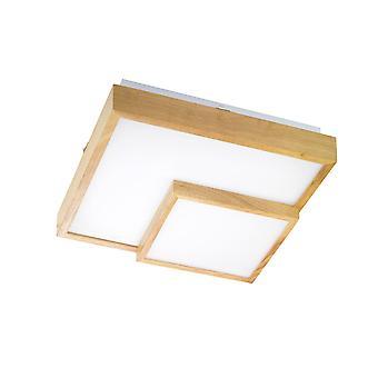 Wofi Hudson - LED 1 Light Flush Plafond Light En bois - 9042.01.51.8100