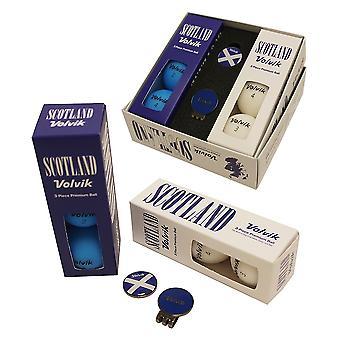 Volvik Vivid Patriot Pack Golf Bälle Ball Marker & Hut Clip Schottland