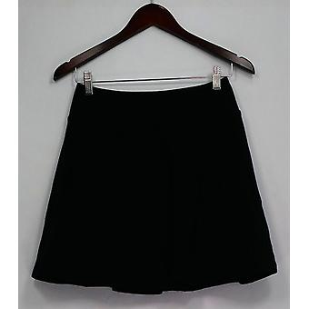 Women with Control Shorts Pull-on Knit Skort Black A288784
