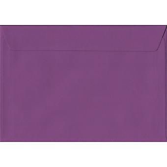 Purple Peel/Seal C5/A5 Coloured Purple Envelopes. 100gsm FSC Sustainable Paper. 162mm x 229mm. Wallet Style Envelope.