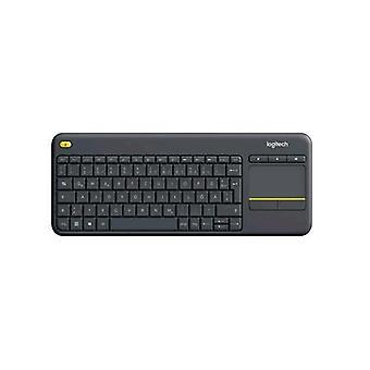 Logitech k400 plus drahtlose Touchpad Layout deutsch schwarz Farbe