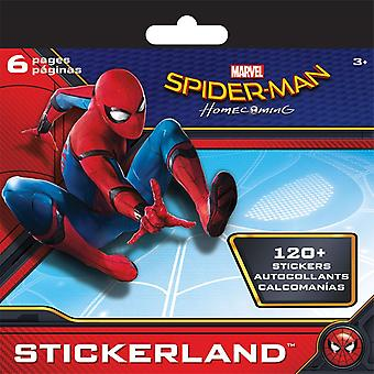 Mini Stickerland Pad 6 pages Spider-Man Homecoming New st2334