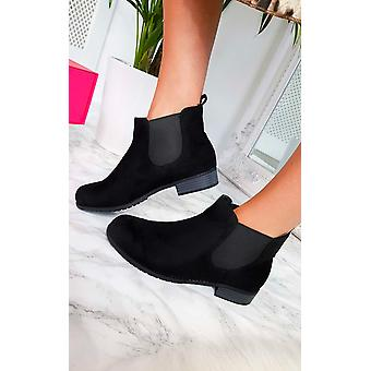 IKRUSH Womens Ivy Faux Suede Ankle Boots