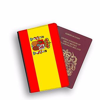 SPAIN Flag Passport Holder Style Case Cover Protective Wallet Flags design