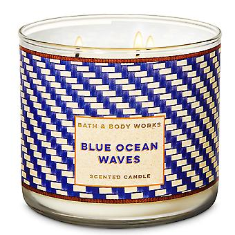 Bath & Body Works Blue Ocean Waves Scented Candle 14.5 oz / 411 g