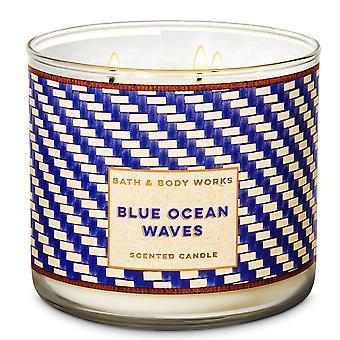 Bain et corps travaille Blue Ocean Waves Bougie parfumée 14,5 oz / 411 g