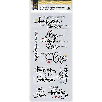 Little Yellow Bicycle Vellum Stickers-Family 22450