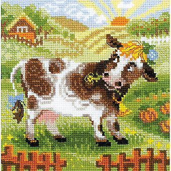The Farm Little Cow Counted Cross Stitch Kit-8