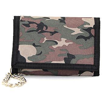 Mens / Boys leger Camouflage Velcro Portemonnee - lichte leger