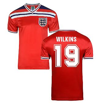 Score Draw Angleterre World Cup 1982 maillot (Wilkins 19)