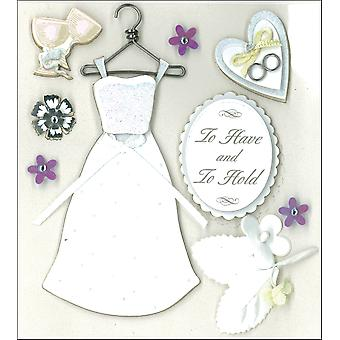 K&Co Dimensional Stickers-Classic Wedding K577411