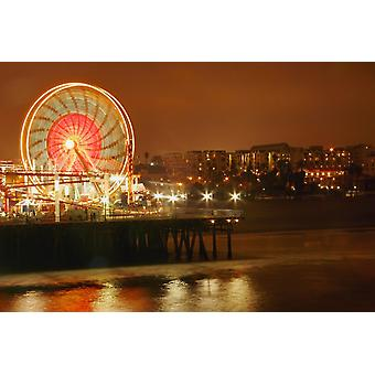Ferris Wheel At Night PosterPrint