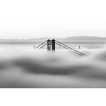 Across the Bay BW Poster Print by  Dave Gordon